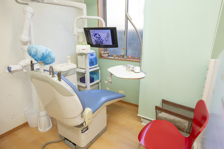 青い診療台